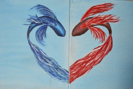 Valentines Fighting Fish by Livvy583