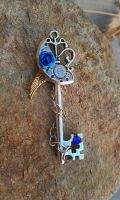 Mechanical Moon (in sapphire) Valkyrie Key by ArtByStarlaMoore