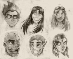 early adolescence in graphite by Monkey-of-the-Dark