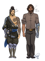 height comparison - mchanzo by seeker-kaliope