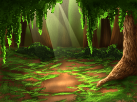 Forest background by UKthewhitewolf