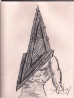 Pyramid Head again by OxBloodrayne1989xO