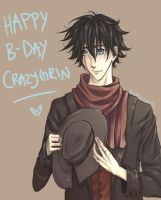 Happy B-day Crazygrin! by Madmorumotto