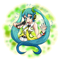 Yellow Miku by TanjatheBat