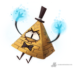 Daily Painting 767. Bill Cipher Quickie by Cryptid-Creations