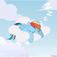 Sleeping Rainbow Dash by Yunguy1