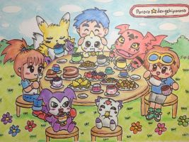 Tamers Tea Time by dengekipororo