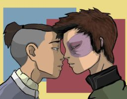 Zuko and Sokka by thehaydenclone