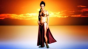 Carrie Fisher Slave Girl Princess IIA by Dave-Daring