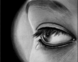 Eye cried for you in charcoal by Artisan30