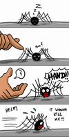 Spider and Hand by MiyaToriaka