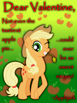 Applejack Valentine's Day Card by AleximusPrime