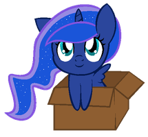 Luna In Box by ElisabethArtist