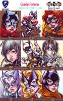 Cryptozoic's DC Sketchcards: Batgirls by CamiFortuna