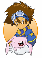 Tai and Koromon by CherrygirlUK19