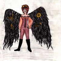Steampunk Angel Colored by rebex1213