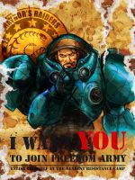 Starcraft 2 Raynor by Ruby3ye5