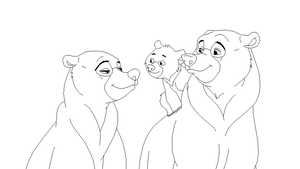 Brother Bear Lineart 3 by Xbox-DS-Gameboy