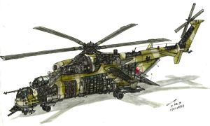 WIP: Mi-24 Heavy Transport Concept by contrail09