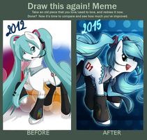 Draw this again: My little Miku by secret-pony