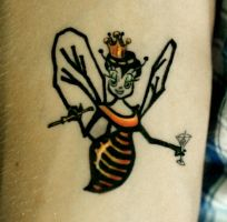 bee tattoo by Deborah-Valentine