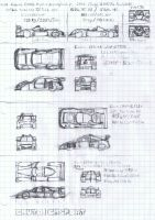 Caout Race Cars Sketches by K9RASArt