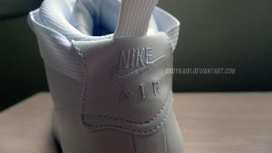 White AF1 Foamposite - Back Tab by BBoyKai91