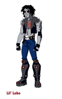 Young Justice: Lil' Lobo design by crashisk