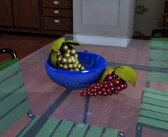 Bowl of grapes by superkitten1990