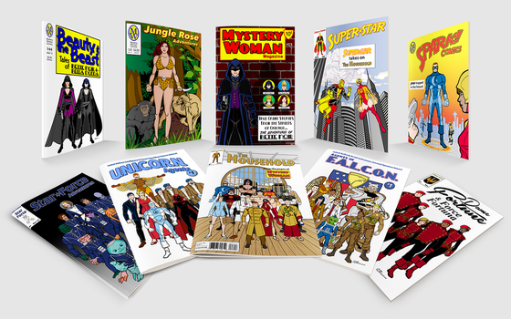 Comics Display (HeroMachine-based mock-ups) by Eldacur