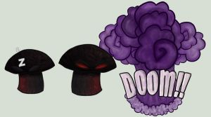 Plants vs Zombies: Doom-Shroom by IceQueen--