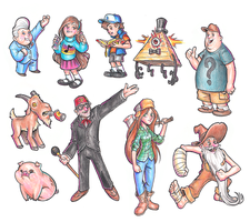Gravity Falls Christmas 2014 by dpdagger