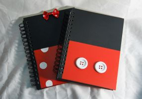 Mickey Mouse and Minnie Mouse Sketchbooks by Konchiroichi