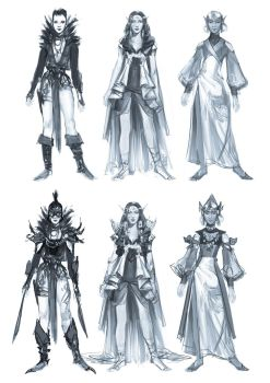 Rough Costume Sketches by soyabeansoldier