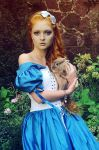 Alice with the rabbit by Voodica