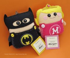 Dark Bat Guy and his Princess Pouchy Pal by PouchyPals