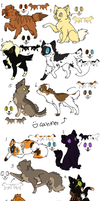 Canine and Feline Adoptables 1 :OPEN: by Lyla2Neko