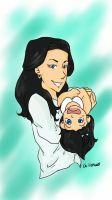 mum and daughter by Illeh665
