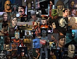 KOTOR Collage wallpaper. by LadyIlona1984