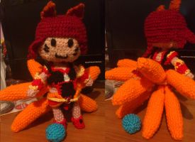 Commission - Foxfire Ahri (new pattern) by Ayinai