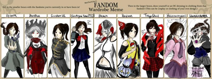 Fandom Wardrobe Meme~ by D-of-Evil