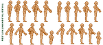 Template - Pixelated humans 2 by thredith