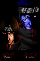 Itachi and Kisame by CreativeDemi64