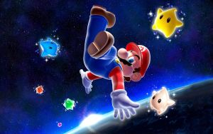 +Super Mario Galaxy Wallpaper+ by ViViTheDaRk