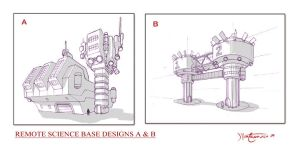 Remote Science Base A and B by RC-draws
