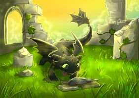 Day 3: Good Boy Toothless by Gears-of-Rain