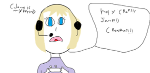 Me playing mine craft by hannadawn
