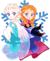 Frozen Chibis by Apricot-Crown