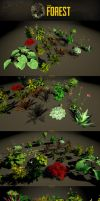 The Forest : plants showcase by Nobiax