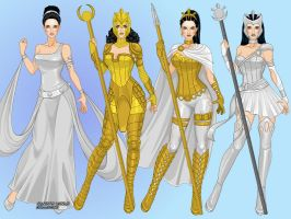 ATHENA: alternate costumes by LadyRaw90